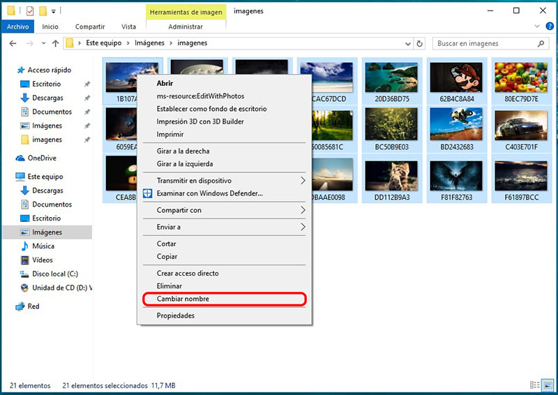 Come rinominare entrambi i file multipli in Windows - Immagine 2 - Professor-falken.com