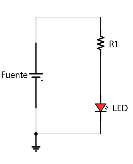 Cómo montar un circuito con un LED - Image 1 - professor-falken.com
