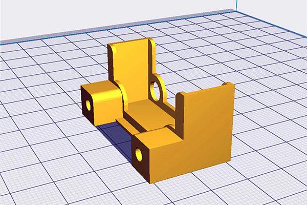 Soporte para el ventilador del motor del extrusor de la Anet A8 - professor-falken.com